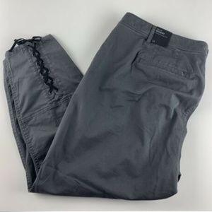 Lane Bryant Gray 24  Pants Lace Up Corset Ankle